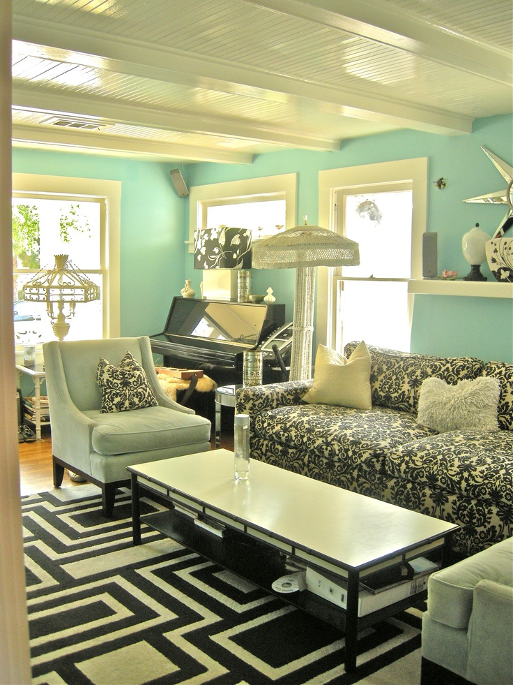 Be afraid of anything in tiffany blue especially my living room y