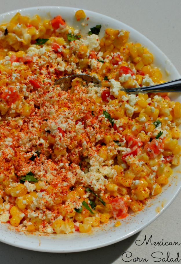 Mexican Corn Salad/Elotes Salad - My Sweet Sanity #recipe #MexicanFood