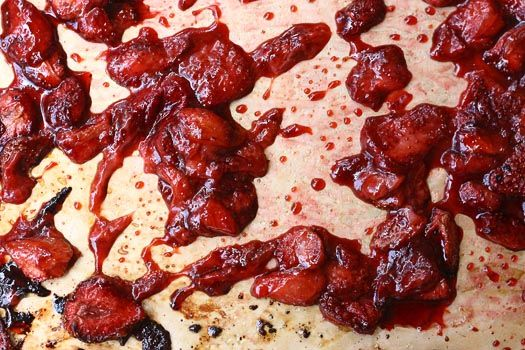 Roasted strawberries - I think this could be a great way to make jam ...