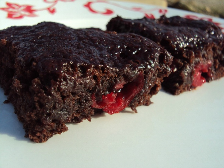 Chocolate Covered Cherry Brownies | Learning to Cook - Sweets | Pinte ...