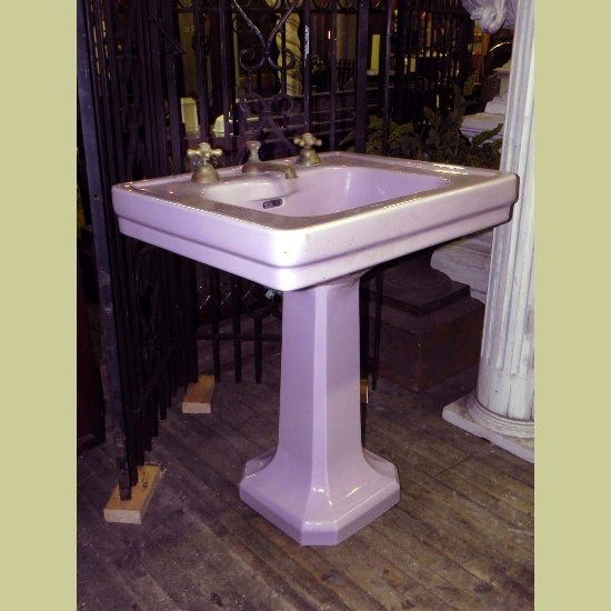 Large Antique Vintage Pedestal Sink color love: LAVENDER Pinterest
