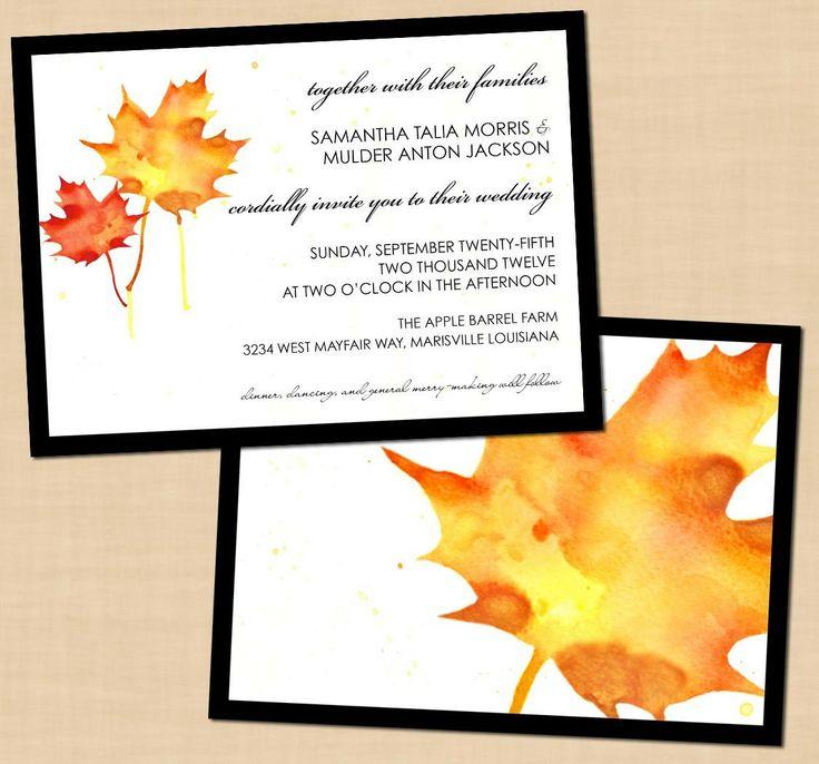 Free Printable Fall Wedding Invitations Fall Pinterest