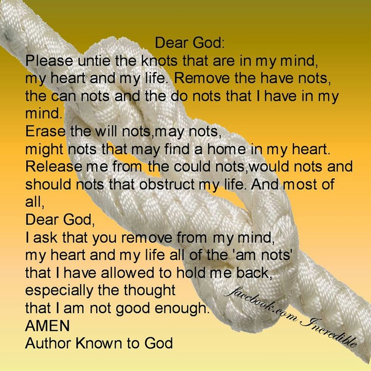 It is a photo of Refreshing The Knots Prayer Printable