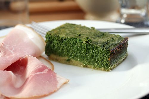 davidlebovitz.com: Dave T's spinach cake. This looks like a cake, but ...