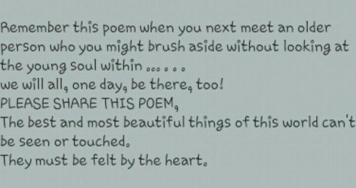 Old Man Poem 68