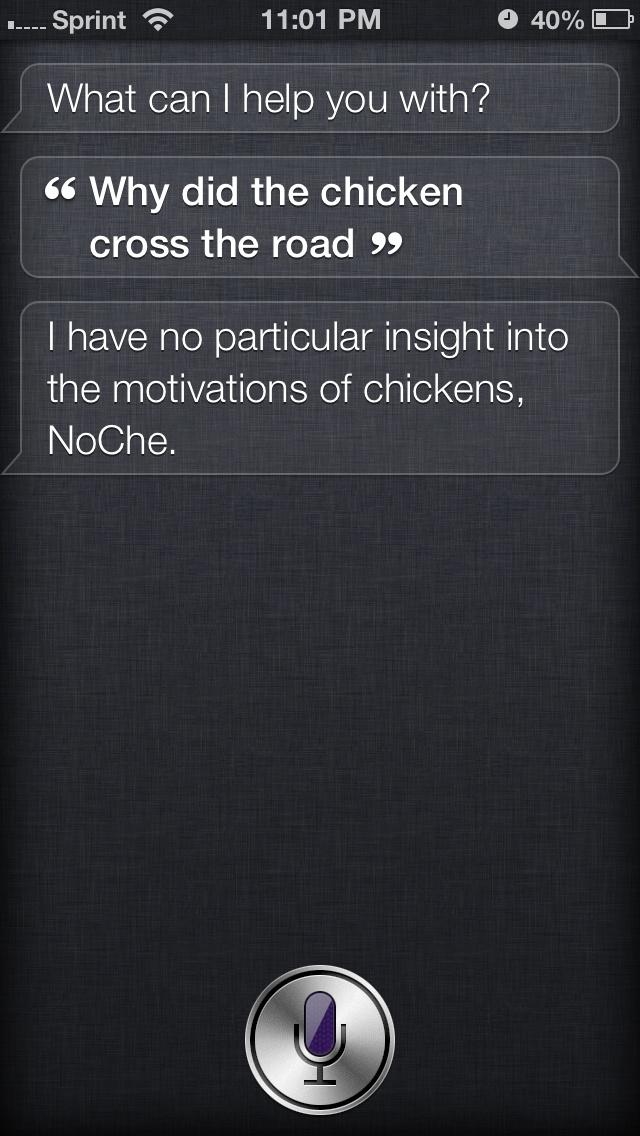 Siri being sarcastic