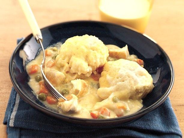 ... Easy Chicken and Dumplings ( Betty Crocker) w/ a huge side salad