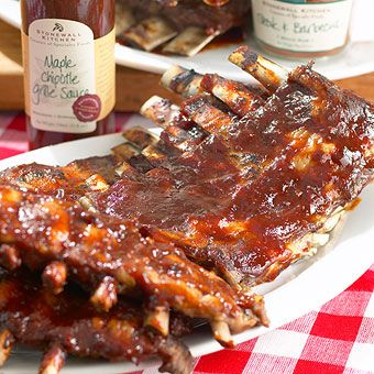 Red, White and Barbecue! Maple Chipotle Baby Back Ribs using Stonewall ...