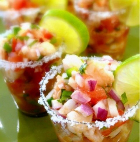 Salmon and Shrimp Ceviche | Deliciously guilty pleasures | Pinterest