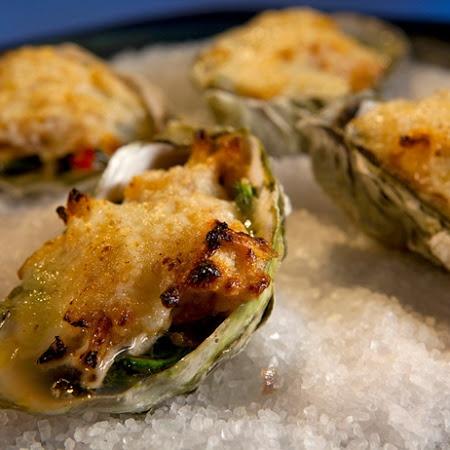 roasted potatoes roasted asparagus roasted cauliflower roasted oysters ...