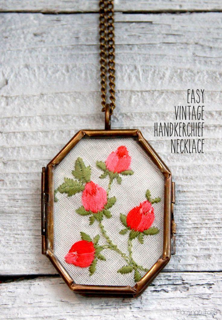 Easy Vintage Handkerchief Necklace
