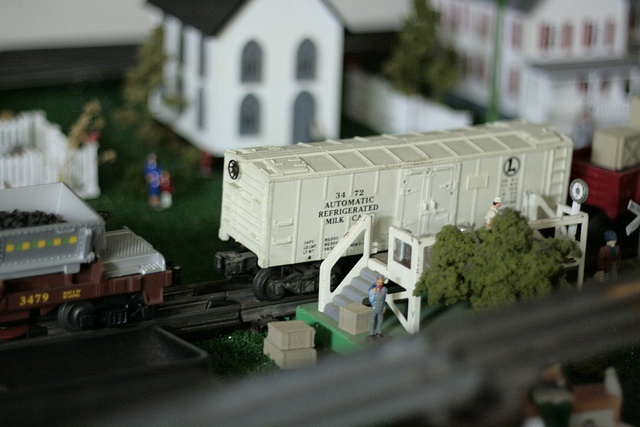 Model train under the christmas tree a tradition i always wished we
