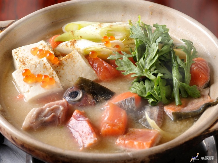 ... , from Hokkaido, includes salmon, vegetables & tofu in a miso broth