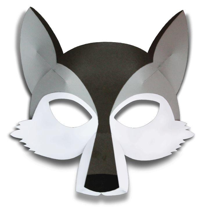 Как сделать маску волка из картона
