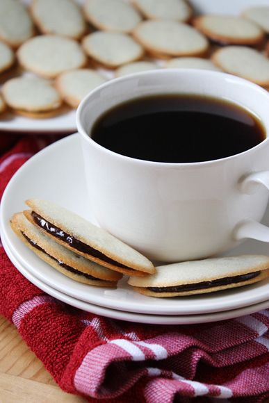 Homemade Milano Cookies with cup of coffee. I would replace the orange ...
