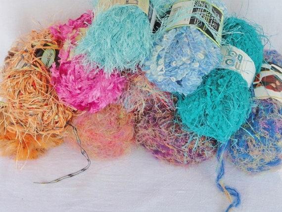 Yarn Supply : Yarn Assortment Supply Destash Lot of 10 by VikisVarietyCraft, $26.50