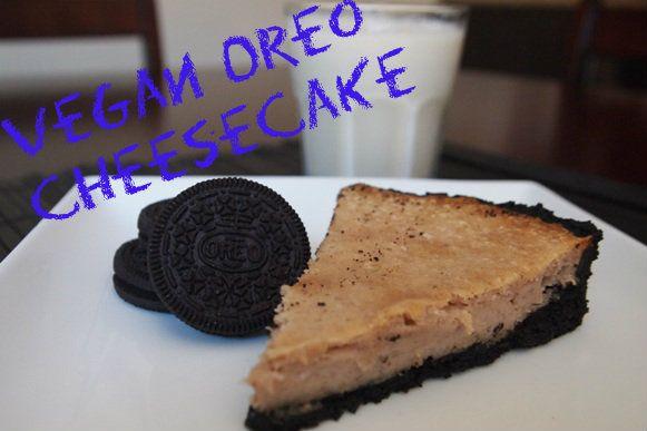 Vegan Cookies & Cream Cheesecake. Need we say more!? #yum #vegan # ...
