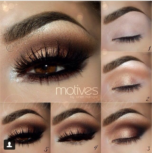 Gorgeous step-by-step golden smokey eyeSmokey Eye Tutorial Step By Step For Blue Eyes