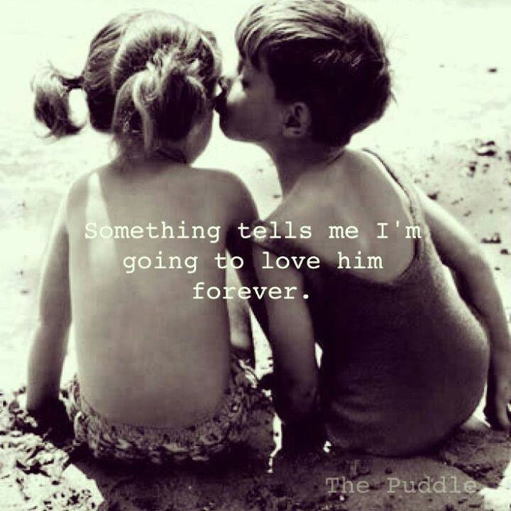 """""""Something tells me I'm going to love him forever."""" #lovequotes"""