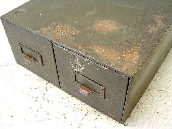 Factory 2 drawer army green metal file cabinet on etsy 40 00