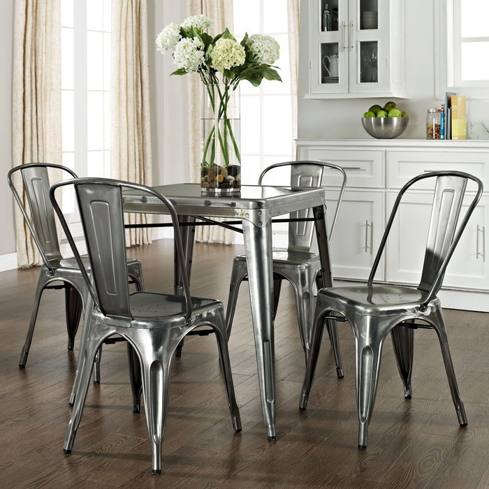 Industrial Kitchen Set: Industrial Dining Chairs
