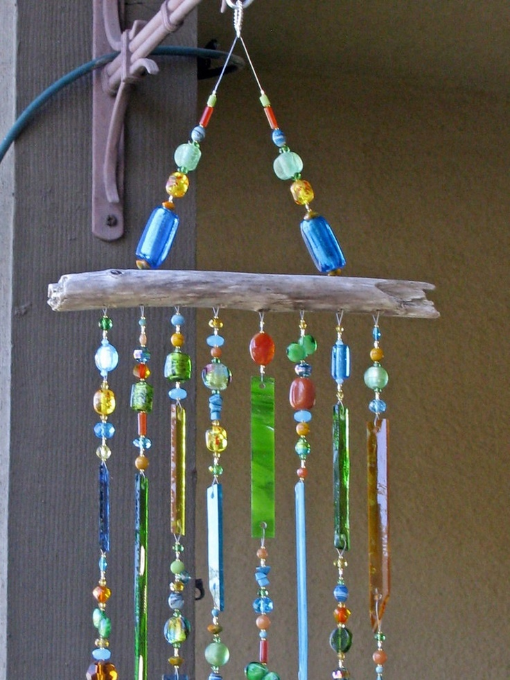 stained glass wind chime glass windchimes suncatcher