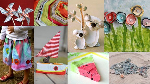 50 kid crafts and links!