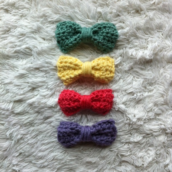 Crochet Hair Bows : Crocheted Hair Bows crochet Pinterest