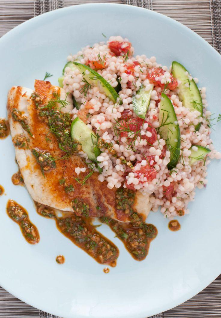 ... -Seared Tilapia with Chermoula & Cucumber-Blood Orange Salad | Rec