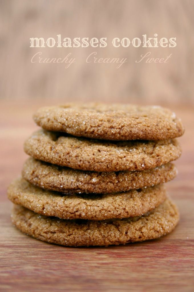 Molasses Cookies from CrunchyCreamySweet.com