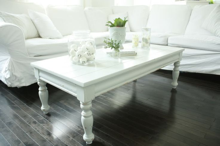 White Painted Coffee Table Pinterest