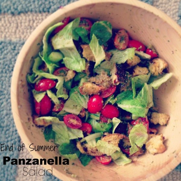 End of Summer Panzanella Salad | 4 | Pinterest