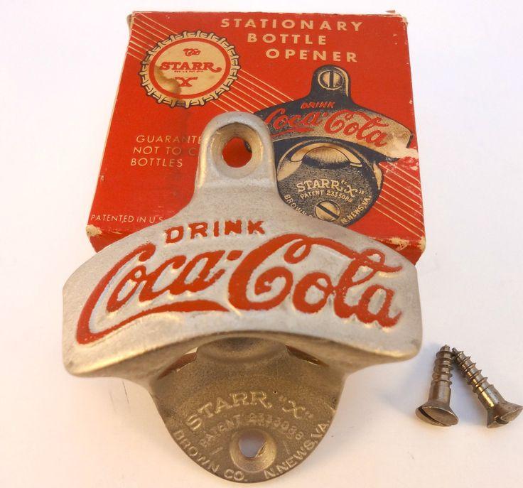 vintage coca cola bottle opener starr x wall mount nos. Black Bedroom Furniture Sets. Home Design Ideas