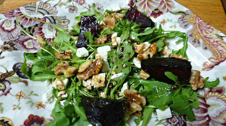 Arugula, Walnut, Feta & Grilled Beet Salad with Balsamic Vinaigrette ...
