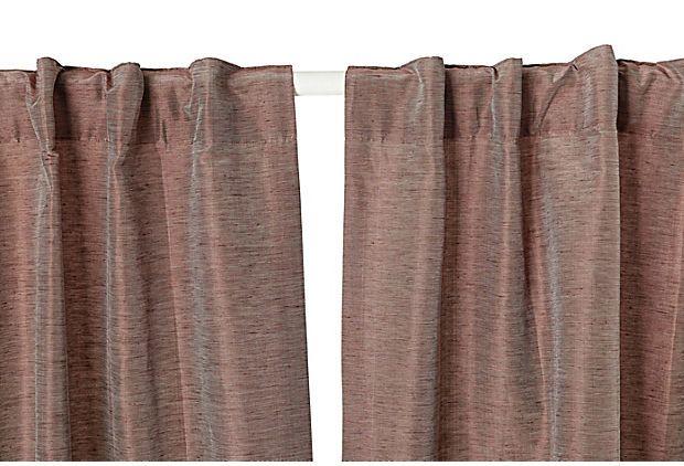 Jade Curtain Panel, Purple on OneKingsLane.com