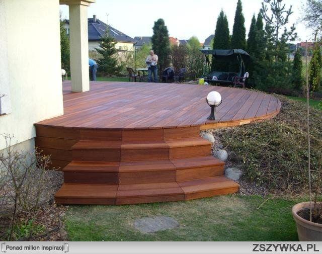 Raised backyard garden - Schody Taras Green Garden Pinterest