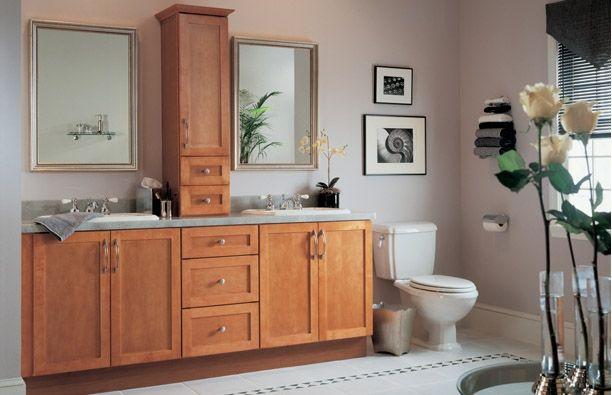 Shaker Cinnamon Bathroom Cabinets For The Home Pinterest