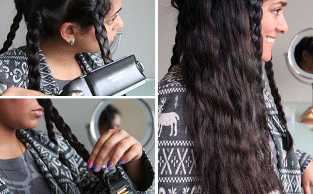 Flat Iron Braids to Make Waves | 28 DIY Hairstyles