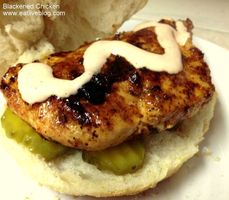 Blackened Chicken Sandwich with Cajun Mayo