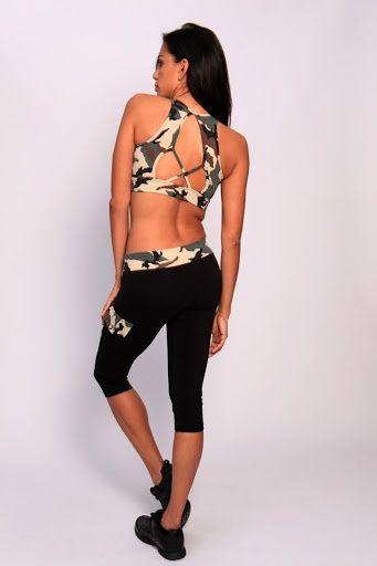 Fitness clothes cute camo set