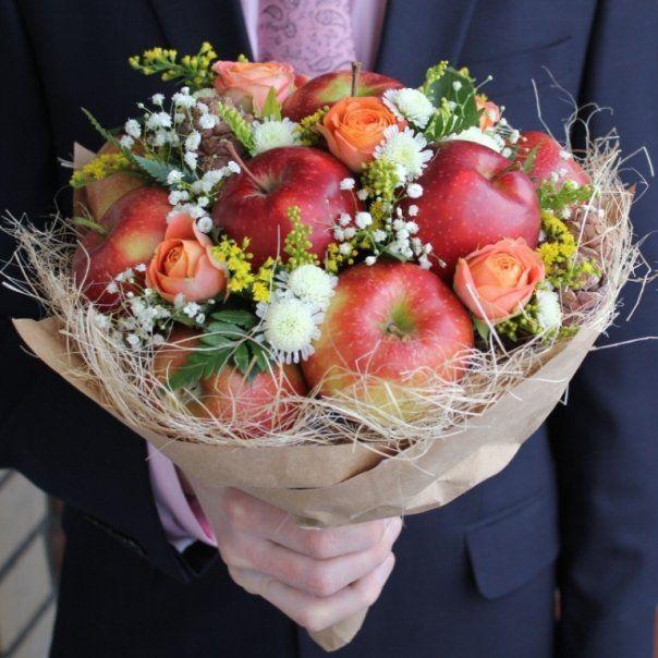 Букеты из цветов и фруктов своими руками для начинающих 643