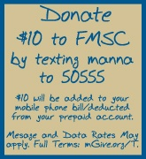 An easy way to donate to Feed My Starving Children, which will provide meals to famine-stricken people in Somalia.