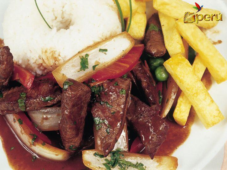 Peruvian traditional food lomo saltado recipes pinterest for Authentic peruvian cuisine