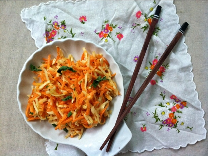 Grated Carrot And Mint Salad With Honey Lemon Vinaigrette Recipes ...