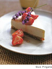 Lavender Yogurt Cheesecake with Kaffir Lime-Flavored Strawberries from ...