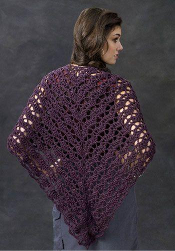 Caron shawl crochet pattern Crochet/Knit Pinterest