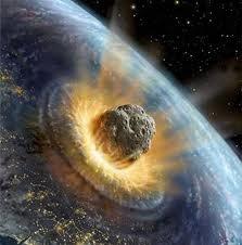 (19) 65 millones de años (aC) - Se cree que cayó un meteorito en nuestro planeta que produjo un gran cataclismo. Se ocultó la luz del sol por muchos días y ocasionó la desaparición de importantes especies de la naturaleza, entre los que se encuentran los Dinosaurios.
