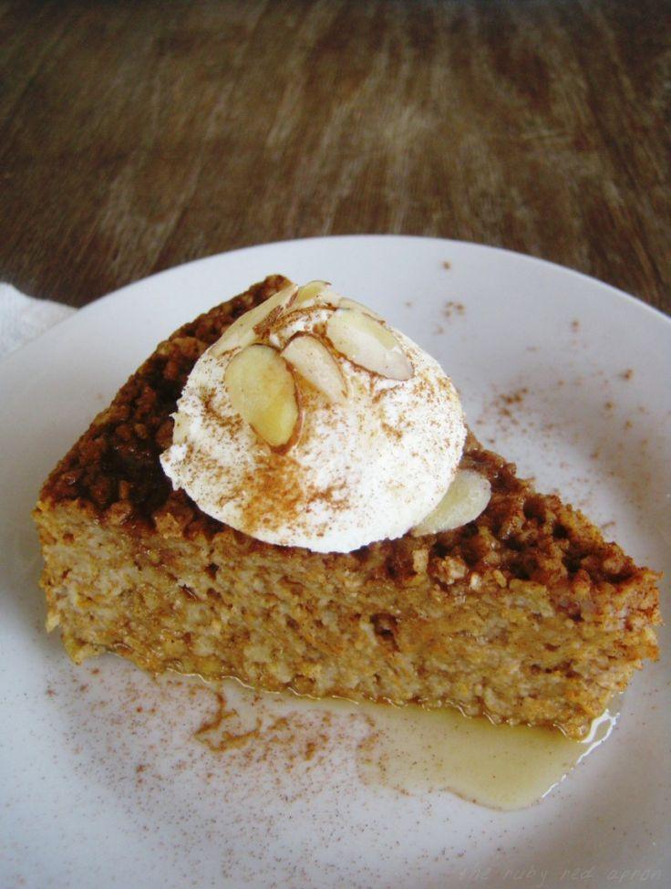 Pumpkin Pie Baked Oatmeal | Recipe
