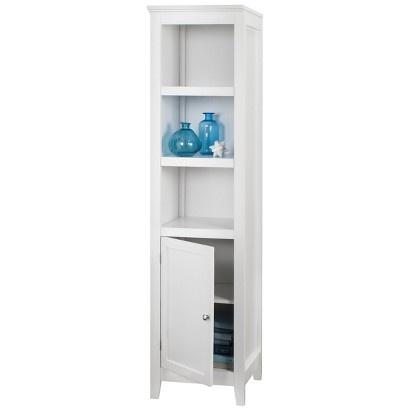 Threshold Carson Narrow Bookcase With Storage White Image Zoom