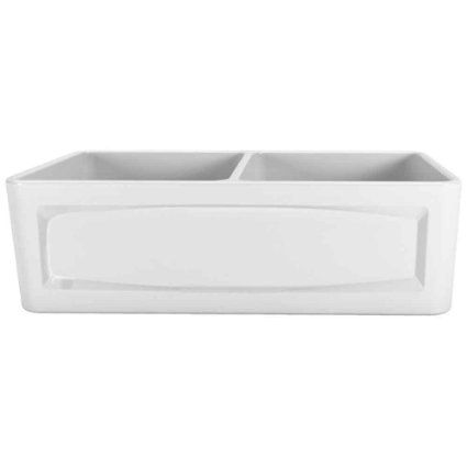 Farmhouse Sink 33 Inch White : Porcher 35010-33.001 33-Inch Double Bowl Farm Sink, White - Amazon.com